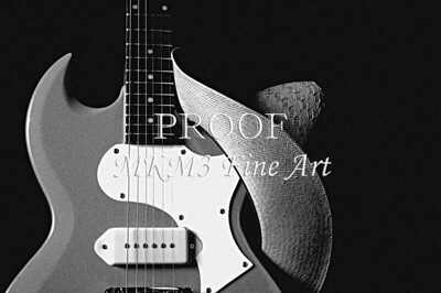 Cowgirl Guitar Image with western Hat 024h