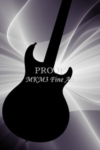 Electric Guitar Image Silhouette in Black and White 3317.01