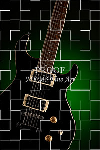 Broken Electric Guitar Image Wall Art 4101.06