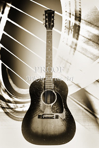 453.1834 Gibson J45 In Black and White