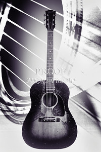 454.1834 Gibson J45 In Black and White