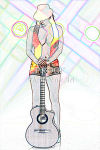 312.1855 Guitar Model Watercolor