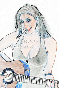 301.1855 Guitar Model Watercolor