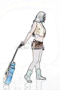 305.1855 Guitar Model Watercolor