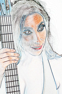 304.1855 Guitar Model Watercolor