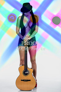 123.1855 Guitar Model Color Art Photograph