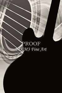 Silhouette Gibson Guitar Image Wall Art 1744.011