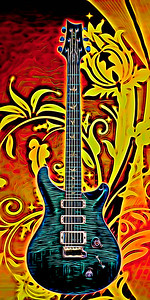 Painting of Paul Reed Smith Guitar 701.2110