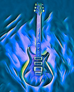 Painting of Paul Reed Smith Guitar 709.2110