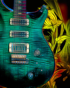 Painting of Paul Reed Smith Guitar 703.2110