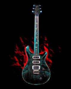 Painting of Paul Reed Smith Guitar 708.2110