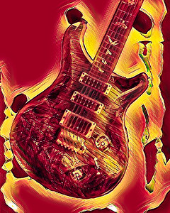 Painting of Paul Reed Smith Guitar 712.2110