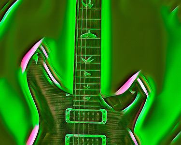 Painting of Paul Reed Smith Guitar 713.2110