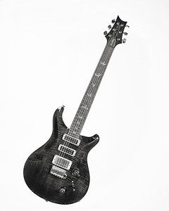 Paul Reed Smith Guitar in Black and White 233.2110