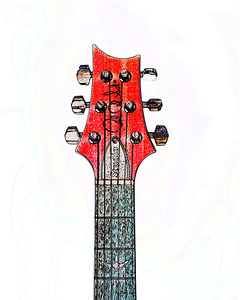 Watercolor of Paul Reed Smith Guitar 324.2110