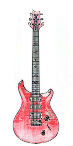 Watercolor of Paul Reed Smith Guitar 317.2110