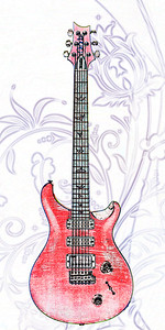 Watercolor of Paul Reed Smith Guitar 302.2110