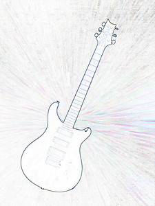 Watercolor of Paul Reed Smith Guitar 307.2110