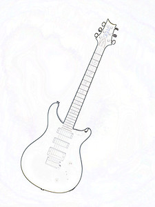 Watercolor of Paul Reed Smith Guitar 326.2110
