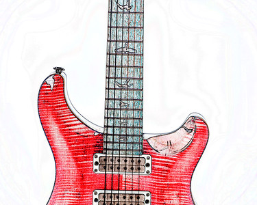 Watercolor of Paul Reed Smith Guitar 325.2110