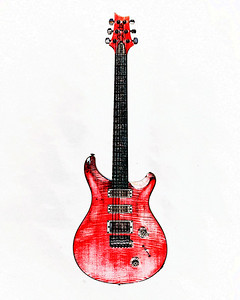 Watercolor of Paul Reed Smith Guitar 309.2110