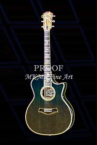 405.1837 Taylor 914C Guitar Drawing