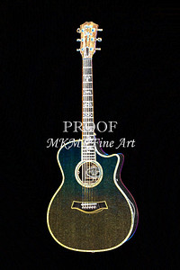 407.1837 Taylor 914C Guitar Drawing