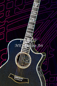 411.1837 Taylor 914C Guitar Drawing