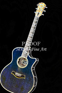 409.1837 Taylor 914C Guitar Drawing