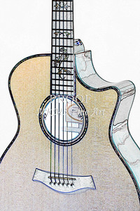 310.1837 Taylor 914C Guitar Watercolor