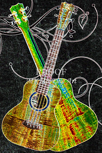 303 .1846 Kanile K3 Tenor Ukulele Drawing
