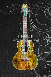 305 .1846 Kanile K3 Tenor Ukulele Drawing