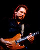 Steve Cropper performing live on stage with the Dave Edmunds R&R Revue at the Warfield Theater in San Francisco on April 7, 1990.
