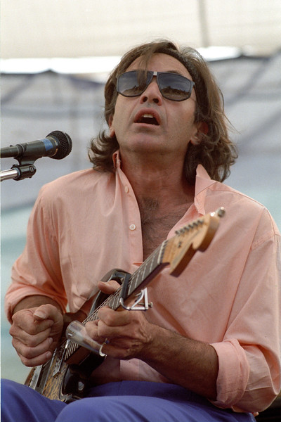 Ry Cooder performs with David Lindley at Electric on the Eel at Angel's Camp, CA on August 25, 1990.