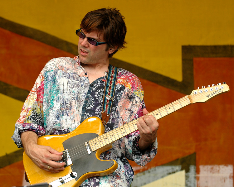 "Shane Theriot performing live with ""Zigaboo"" Modeliste at the New Orleans Jazz & Heritage Festiavl on May 2, 2008."