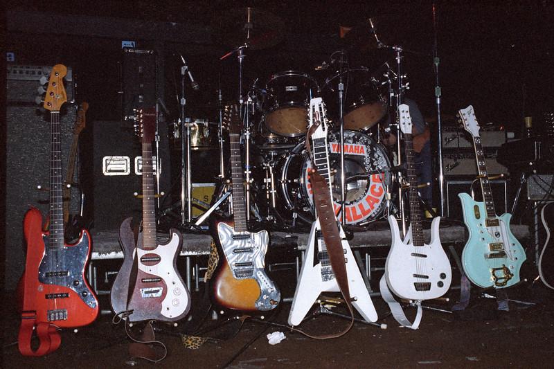 David Lindley's guitars at the Keystone Berkeley in 1984.
