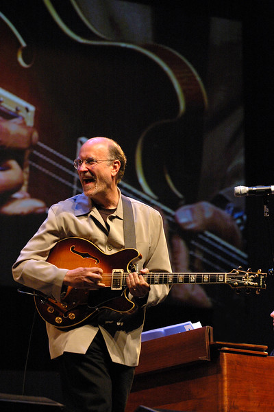 John Scofield performs on the main stage of the Monterey Jazz Festival on 9-17-05.