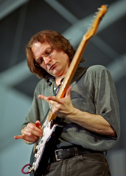 Sonny Landreth performing at the New Orleans Jazz & Heritage Festival on April 26, 2002.