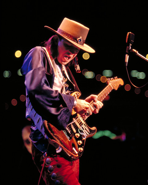 Stevie Ray Vaughan plays for the U.S. Navy Fleet Week celebration. Stevie was made an Honorary Admiral in the U.S. Navy that night.