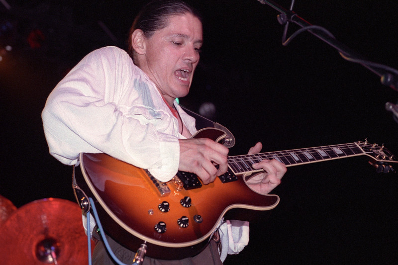 Robben Ford performs at the Warfield Theater in San Francisco on September 22, 1990.