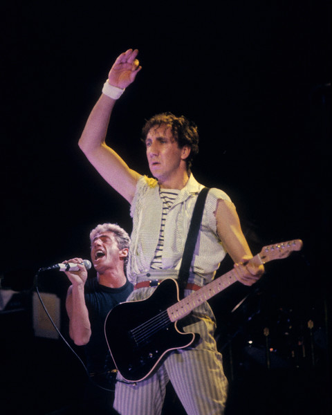 The Who performing at the Oakland Coliseum Arena on 10-25-82