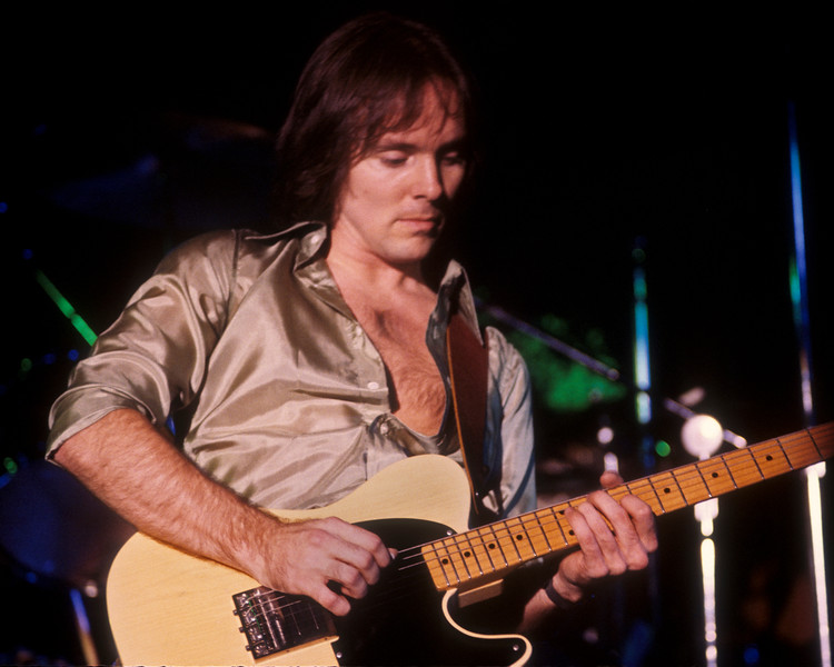 "Ronnie Montrose performing at the Old Waldorf in San Francisco in February 1978. Ronnie was on his all-instrumental ""Open Fire"" tour."