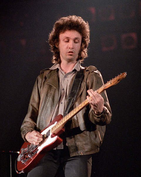 Mike Campbell performing live onstage with Tom Petty & The Heartbreakers at the Cow Palace in San Francisco on April 13, 1983.
