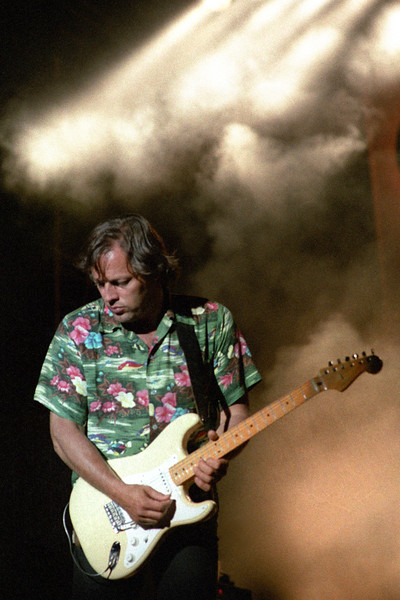 "David Gilmour performs at the Greek Theater in Berkeley, CA on 6-29-84 during the ""About Face"" tour."