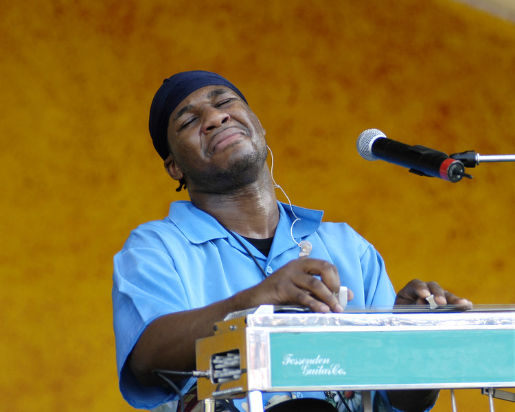 Robert Randolph and the Family Band perform at the New Orleans Jazz & Heritage Festival on May 2, 2003.