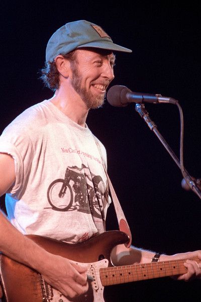 Richard Thompson performing live on stage at the Warfield Theater in San Francisco on July 17, 1991.