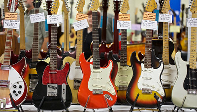 Plenty of guitars to choose from