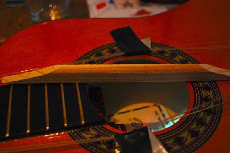 Encore Classical guitar brace repair