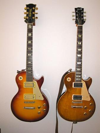 Univox Les Paul copy and Gibson Les Paul Classic 1960 Reissue