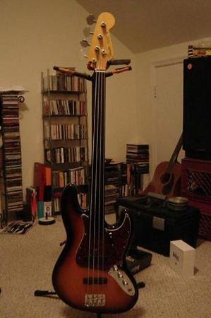 User Built Fretless Jazz Bass